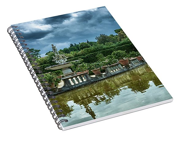 The Fountain Of The Ocean At The Boboli Gardens Spiral Notebook