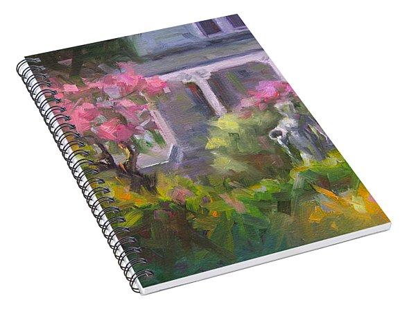 The Guardian - Plein Air Lilac Garden Spiral Notebook