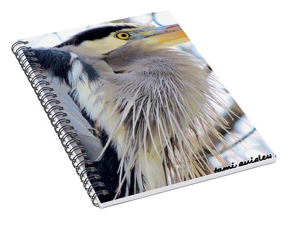 The Heron In Winter  Spiral Notebook