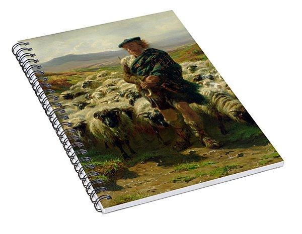 The Highland Shepherd Spiral Notebook