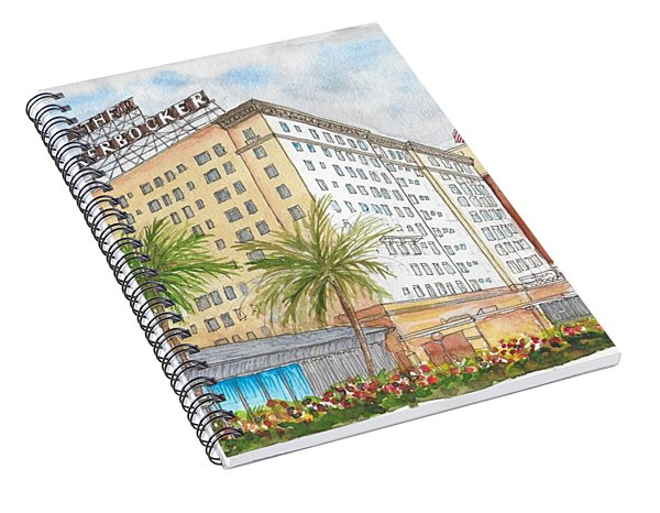 The Knickerbocker Hotel In Hollywood, California Spiral Notebook