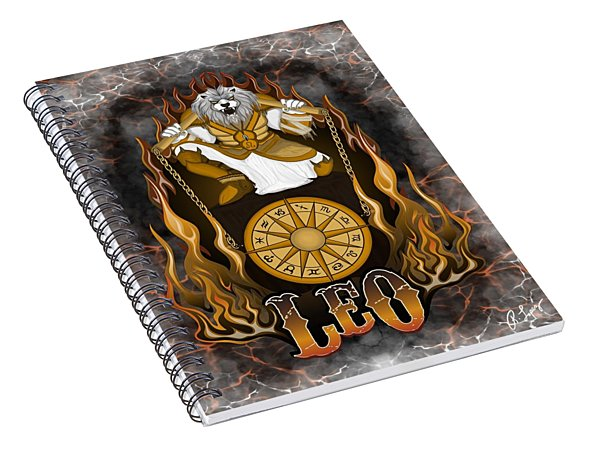 The Lion Leo Spirit Spiral Notebook