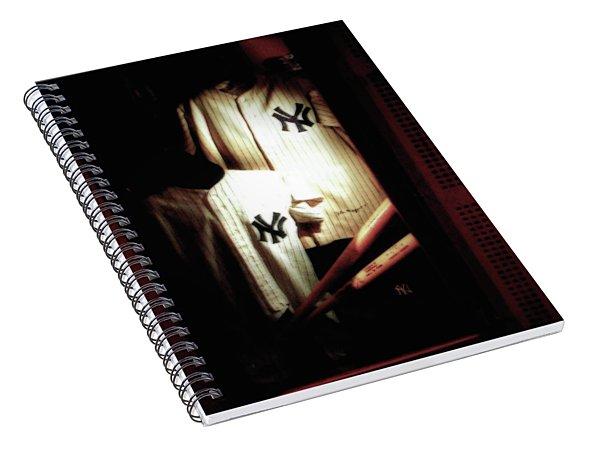 The Locker  Mickey Mantle's And Joe Dimaggio's Locker Spiral Notebook