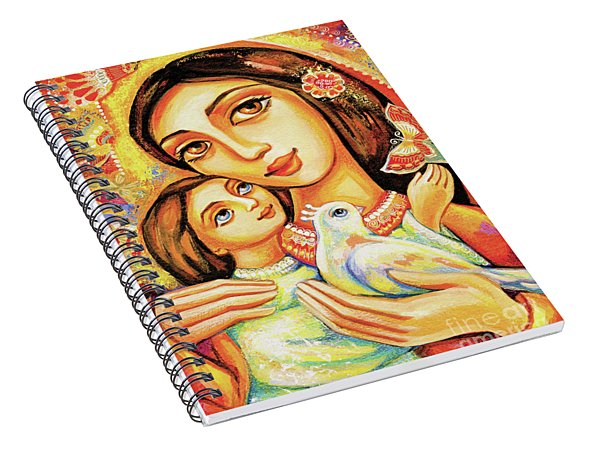 Spiral Notebook featuring the painting The Miracle Of Love by Eva Campbell