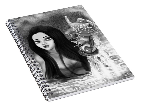 The Missing Key - Black And White Fantasy Art Spiral Notebook