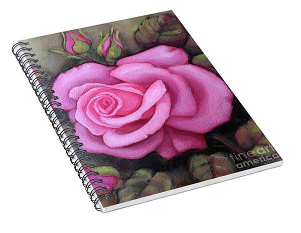 The Pink Dream Rose Spiral Notebook