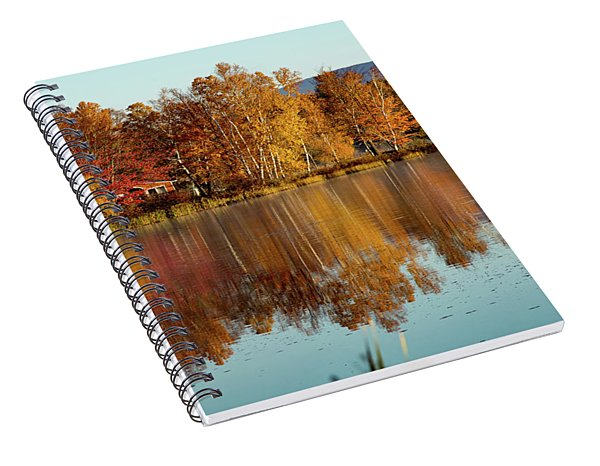 The Point Of Maine Fall Colors Spiral Notebook