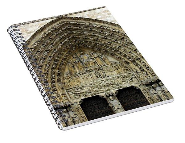 The Portal Of The Last Judgement Of Notre Dame De Paris Spiral Notebook