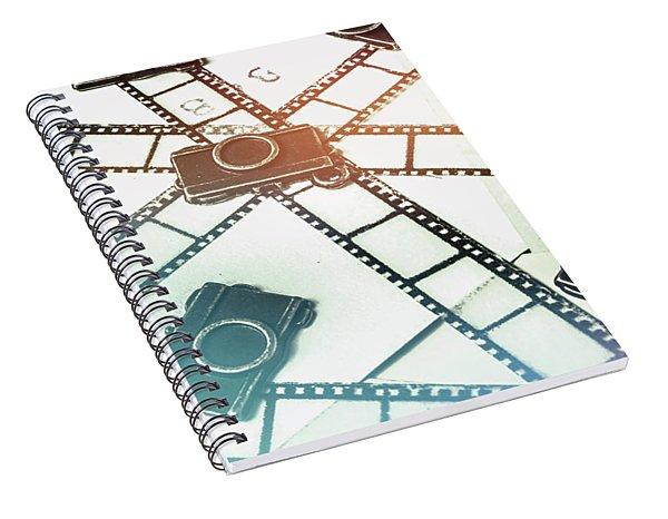 The Retro Camera Reel Spiral Notebook
