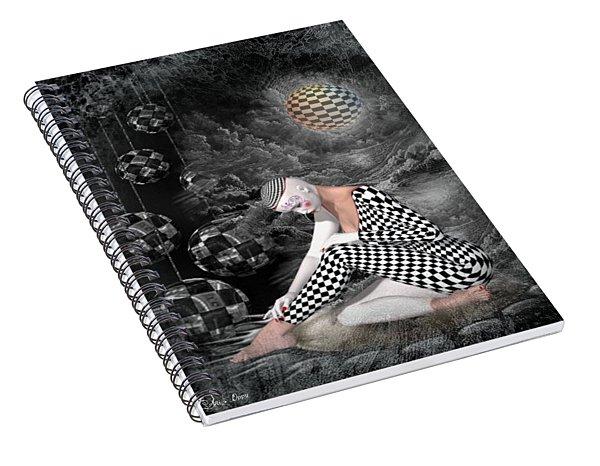 The Sad Pierrot Spiral Notebook