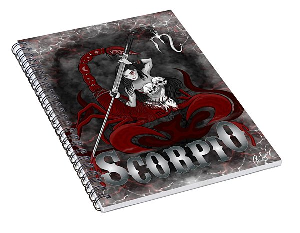 The Scorpion Scorpio Spirit Spiral Notebook