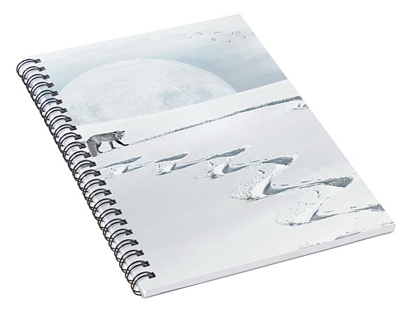 The Silver Fox Spiral Notebook