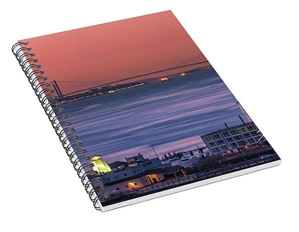 The Verrazano Bridge At Sunrise Spiral Notebook