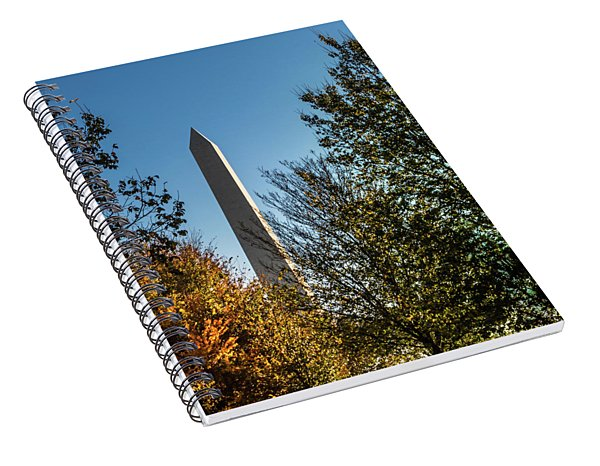 The Washington Monument In Fall Spiral Notebook