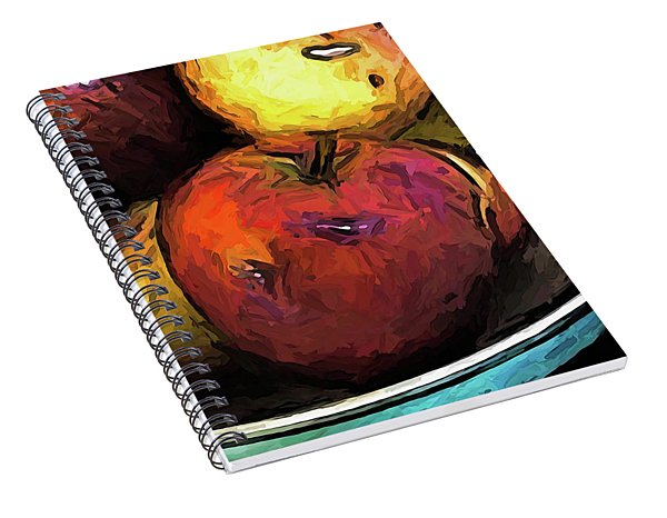 The Wine Apple With The Gold Apples Spiral Notebook