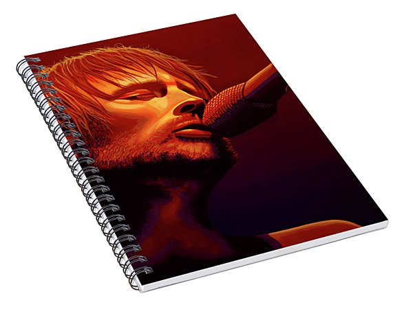 Thom Yorke Of Radiohead Spiral Notebook