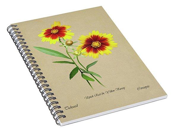 Tickseed Botanical Spiral Notebook