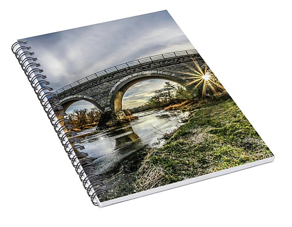 Tiffany Bridge Panorama Spiral Notebook