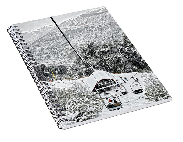 To The Land Of Frozen Dreams In The Argentine Patagonia Spiral Notebook