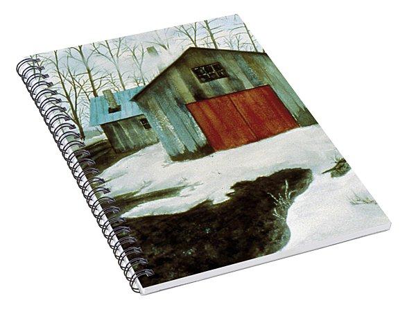 Spiral Notebook featuring the painting To The Sugar House by Karen Zuk Rosenblatt