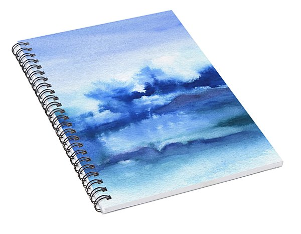 Tofino Waves Abstract Spiral Notebook