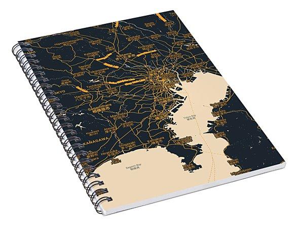 Tokyo Map Spiral Notebook
