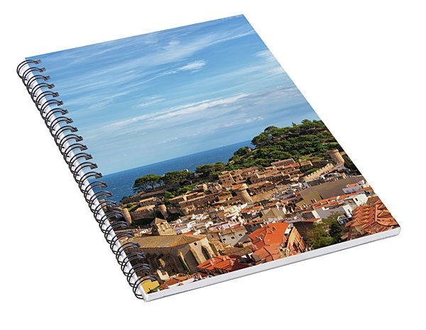 Tossa De Mar Seaside Town In Spain Spiral Notebook