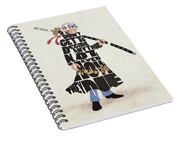 Trafalgar D. Water Law Typography Art Spiral Notebook