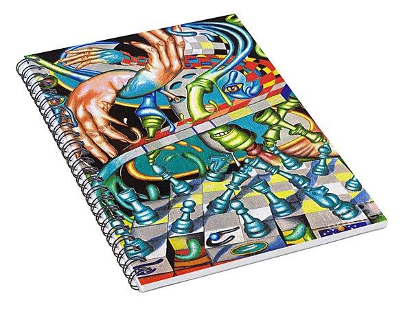 Transmutation Of Time, Reflex, And Observation Spiral Notebook