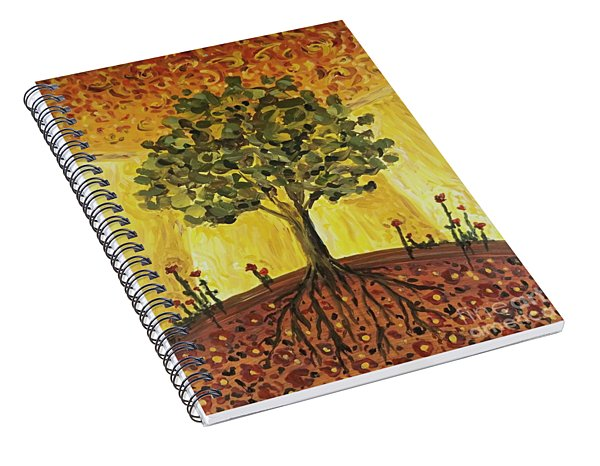 Spiral Notebook featuring the painting Tree Of Life by Maria Langgle