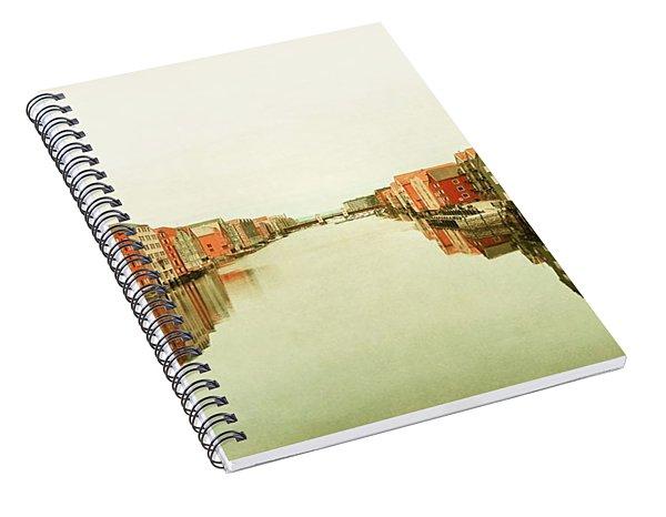Trondheim On A Rainy Day Spiral Notebook