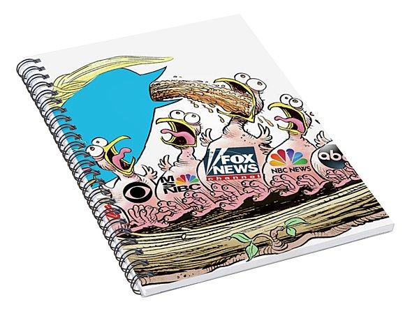 Trump Twitter And Tv News Spiral Notebook