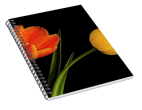 Spiral Notebook featuring the photograph Tulip Pair by Scott Kemper
