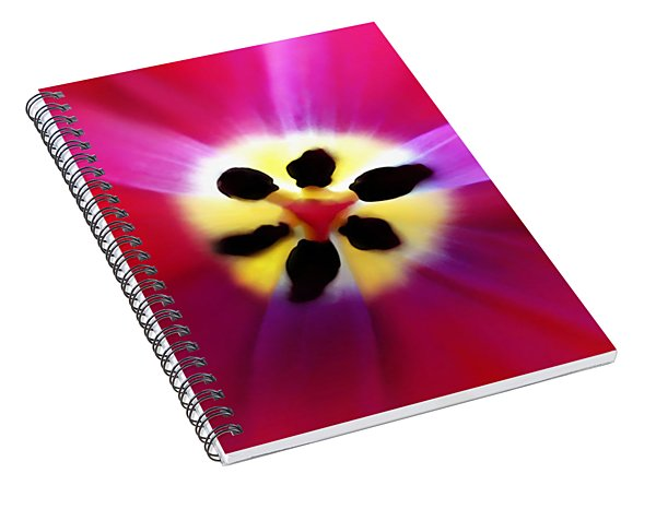 Tulip Vivid Floral Abstract Spiral Notebook
