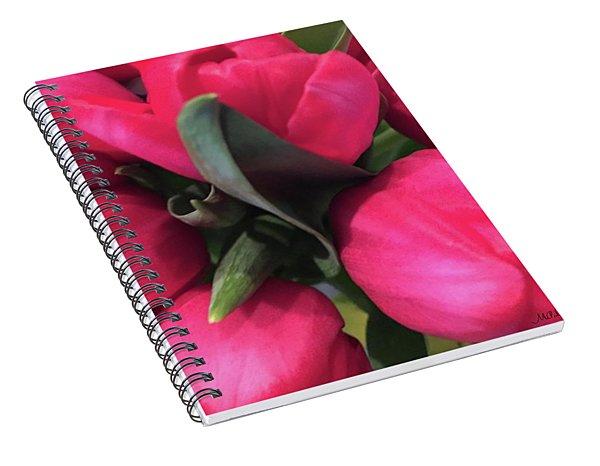 Tulips-macro Spiral Notebook