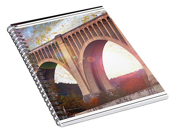 Tunkhannock Viaduct, Nicholson Bridge, Starry Night Fantasy Spiral Notebook