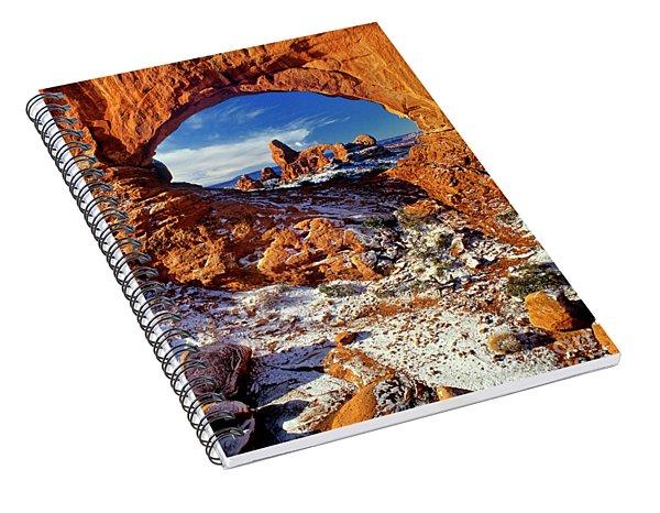 Turret Arch Through North Window Arches National Park Utah Spiral Notebook