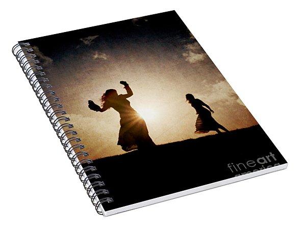 Two Women Dancing At Sunset Spiral Notebook