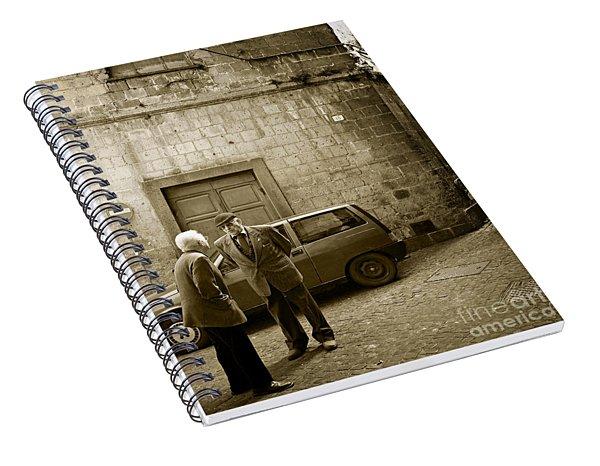 Typical Italian Street Scene In Sepia Spiral Notebook