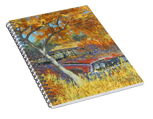 Under The Chinese Elm Tree Spiral Notebook