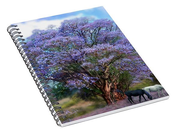 Under The Jacaranda Spiral Notebook