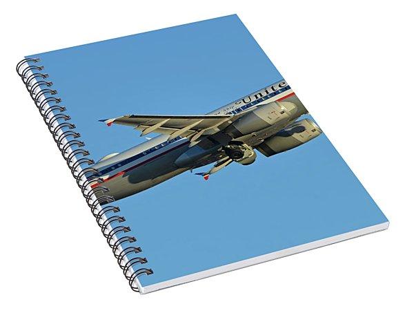 United Airbus A320-232 N475ua Friend Ship Phoenix Sky Harbor November 11 2017 Spiral Notebook
