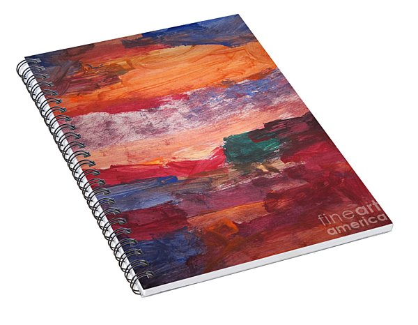 untitled 109 Original Painting Spiral Notebook