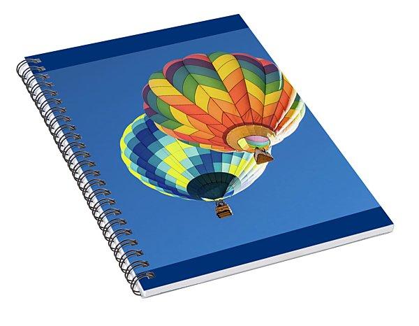 Up In A Hot Air Balloon Spiral Notebook
