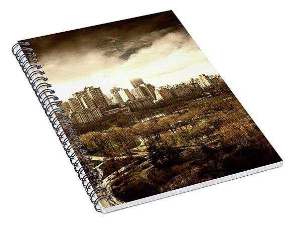 Upper West Side Of New York In Spring Spiral Notebook
