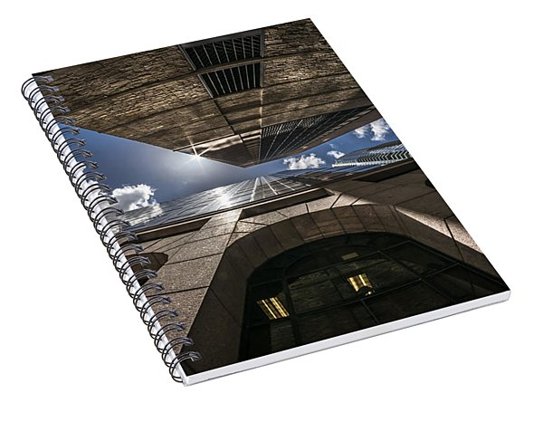 Urban Canyon Sunburst Spiral Notebook