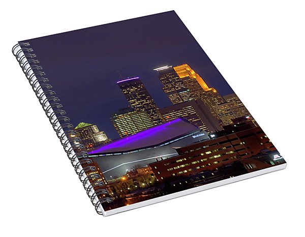 Usbank Stadium Dressed In Purple Spiral Notebook