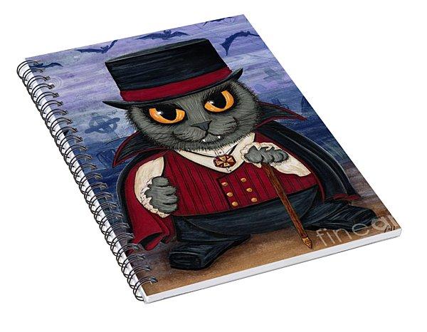 Vampire Cat Couple Spiral Notebook