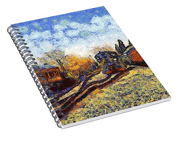 Van Gogh.s Train Station 7d11513 Spiral Notebook