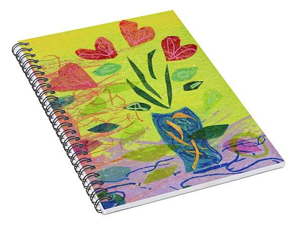 Vase Full Of Love Spiral Notebook